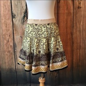 🔥Free People Boho Layered Skirt Brown Sequins S